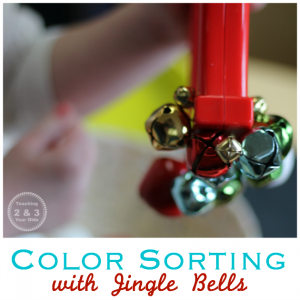 Jingle Bell Color Sorting for Toddlers and Preschoolers