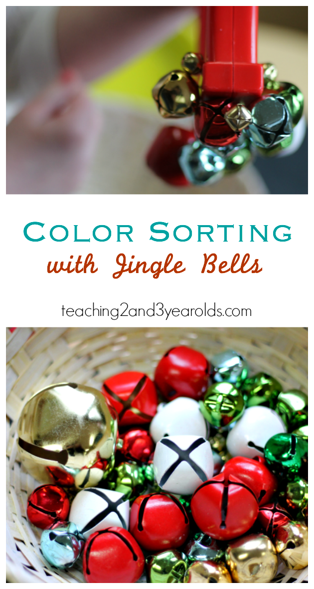 This Christmas color sorting activity is super easy to set up, and it's a fun way to work on fine motor skills with toddlers and preschoolers!