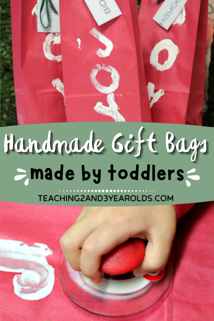 Handmade Gift Wrap That is Perfect for Toddlers and Preschoolers