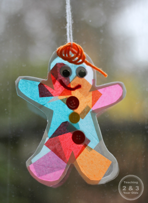 Gingerbread Suncatcher Ornament for Kids