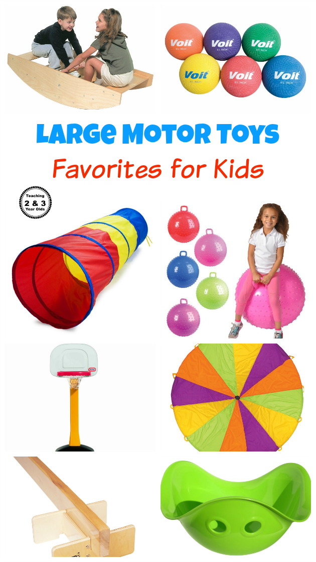 Toys that Help Develop Large Motor Skills - Teaching 2 and 3 Year Olds