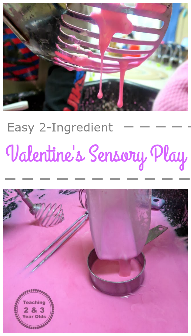 Valentine's Sensory Play - Teaching 2 and 3 Year Olds