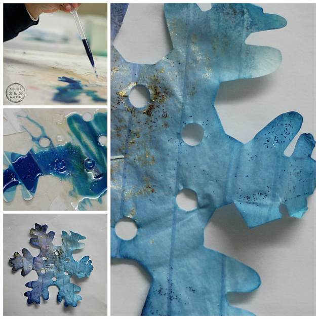 Winter Watercolor Snowflakes - Teaching 2 and 3 Year Olds