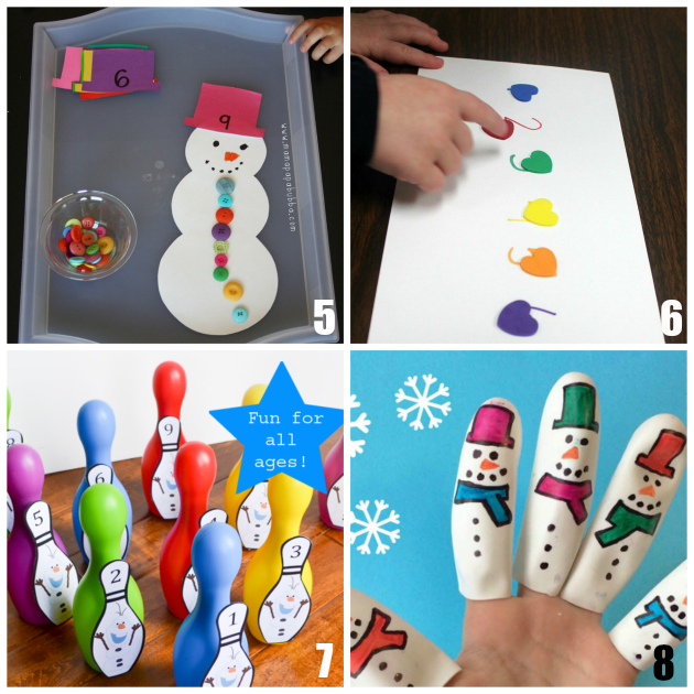 Preschool Math Activities for Winter