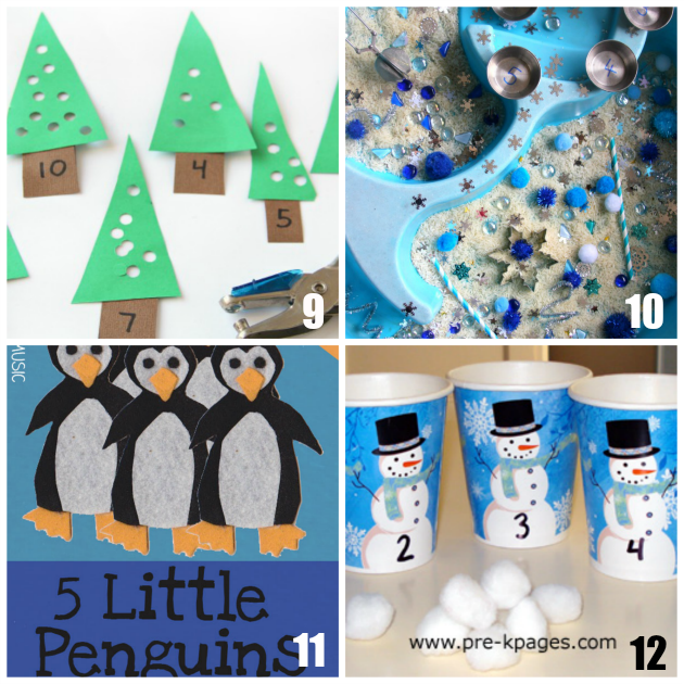 Winter Math Activities for Preschoolers - Teaching 2 and 3 Year Olds