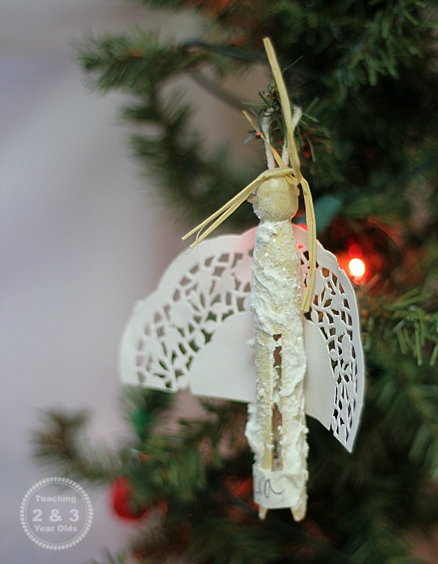 Kids Christmas Angel Ornaments - Teaching 2 and 3 Year Olds