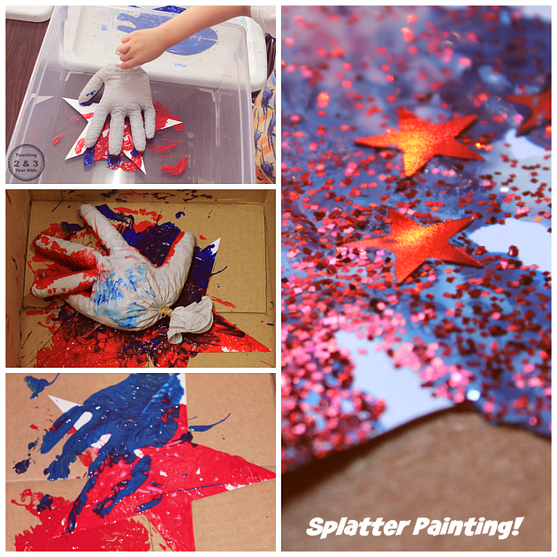 Action art for kids - Drop paint onto paper! Teaching 2 and 3 Year Olds