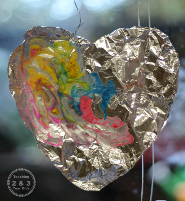 Foil Valentines Hearts