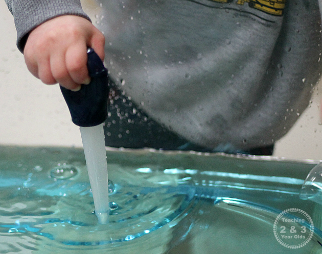 Fine Motor Activity Using Basters