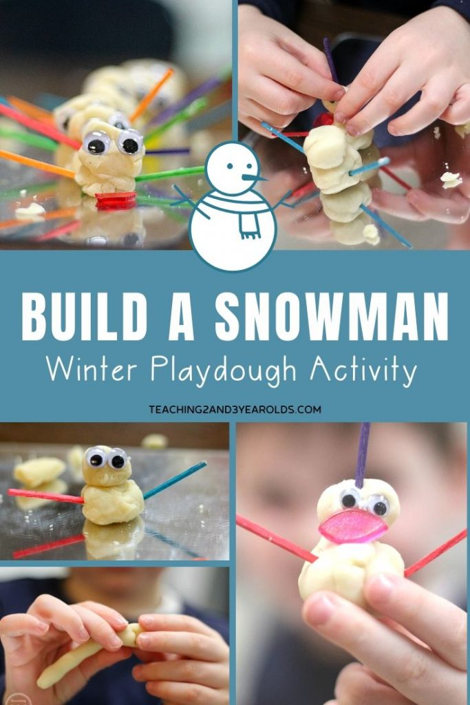 winter playdough activity