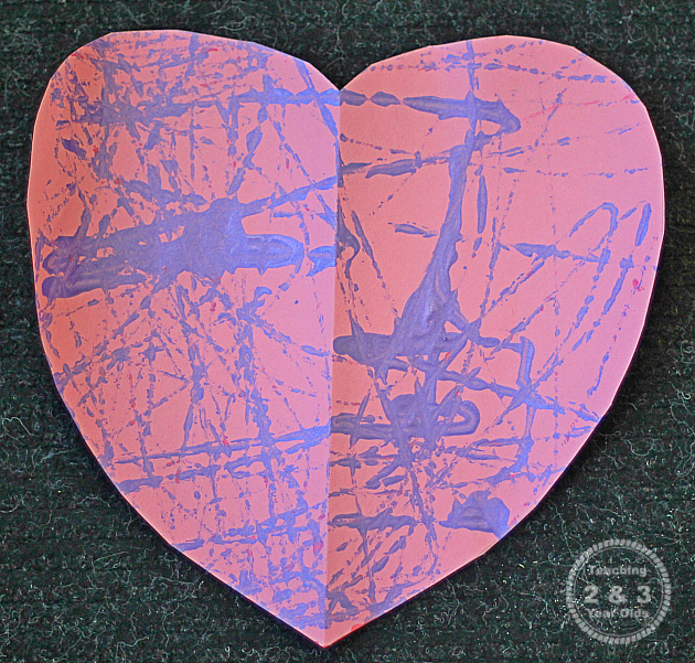 Marble Painted Valentines for Preschoolers