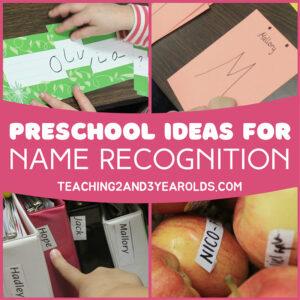 preschool name recognition