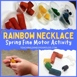 Preschool Rainbow Activity That Strengthens Fine Motor Skills
