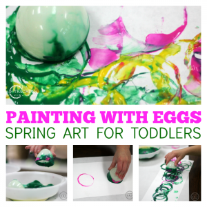 Easy Toddler Art with Easter Eggs