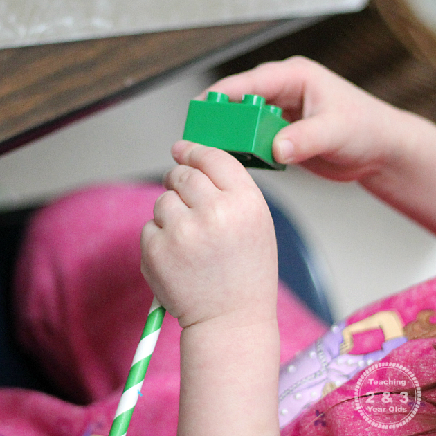STEM Playdough Building Challenge for Preschooolers - Teaching 2 and 3 Year Olds