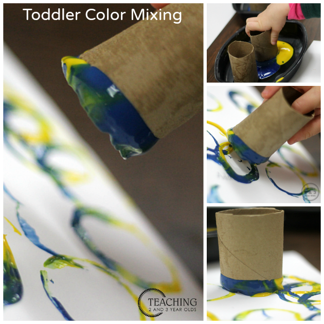 Toddler Color Mixing
