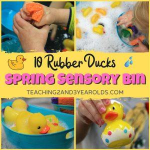 toddler spring sensory play