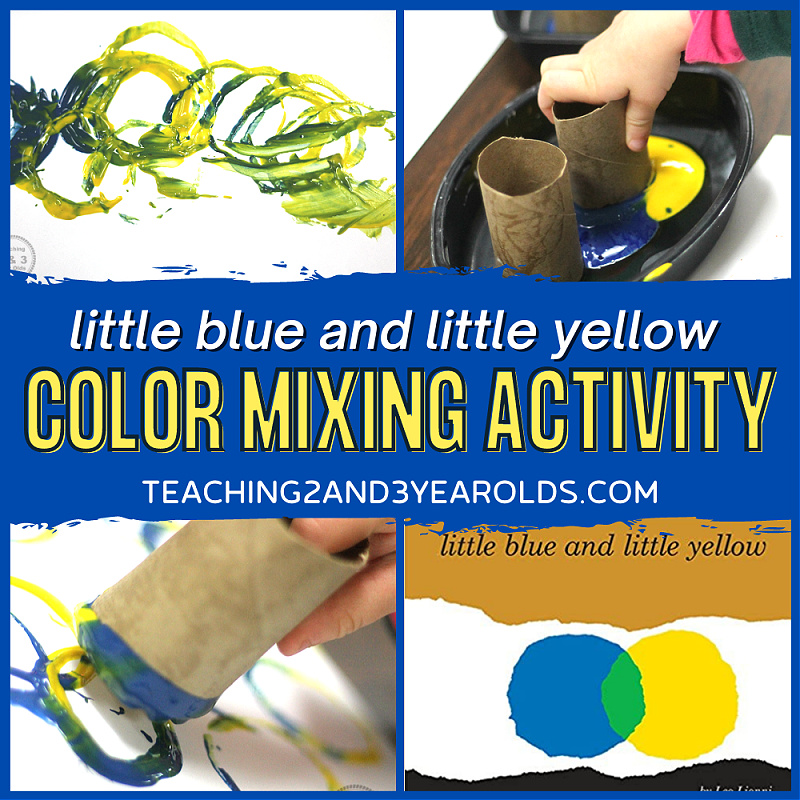 Little Blue and Little Yellow Preschool Color Mixing Activity
