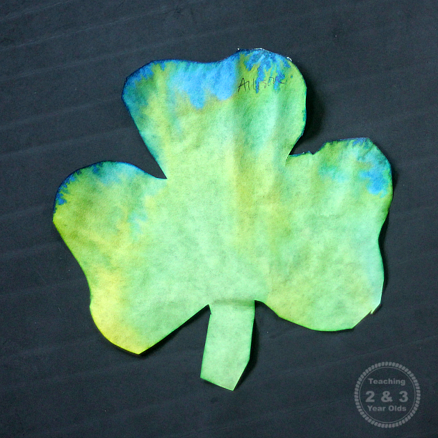 watercolor shamrocks