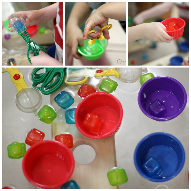 Color Sorting Water Bin for Toddlers and Preschoolers - Teaching 2 and 3 Year Olds