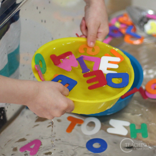 preschool alphabet sensory play