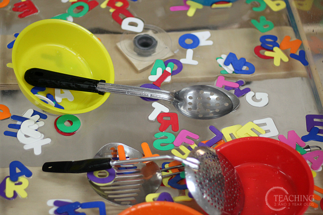 preschool alphabet sensory play