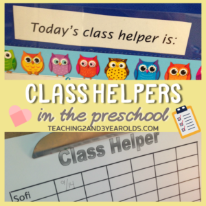 How to Have a Preschool Class Helper