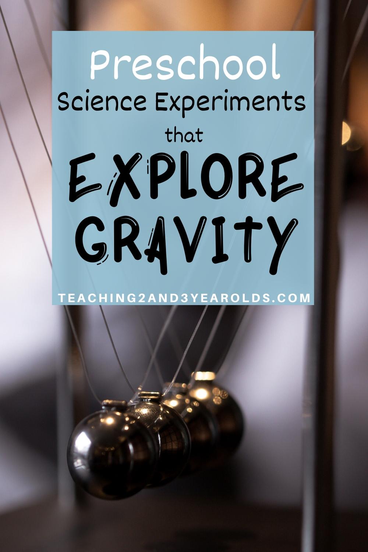 15 Preschool Science Experiments That Explore Gravity - View Preschool Gravity Worksheet Kindergarten Background