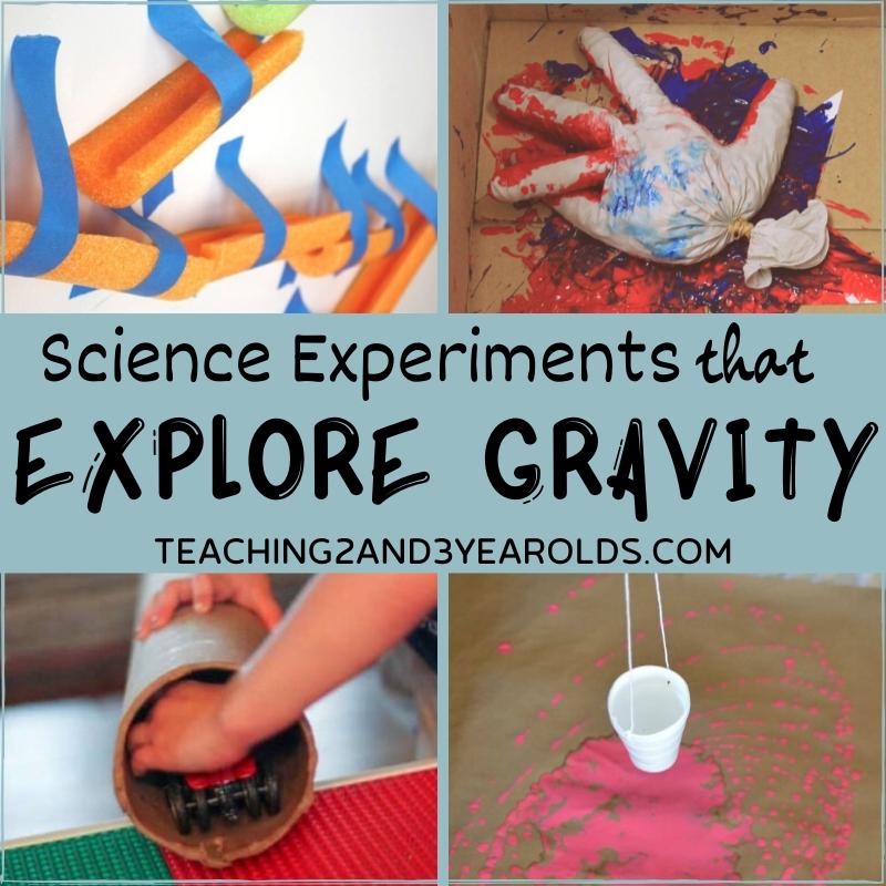 7 Preschool Science Experiments that Explore Gravity