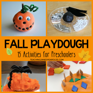 15+ Fun Fall Playdough Ideas for Preschoolers