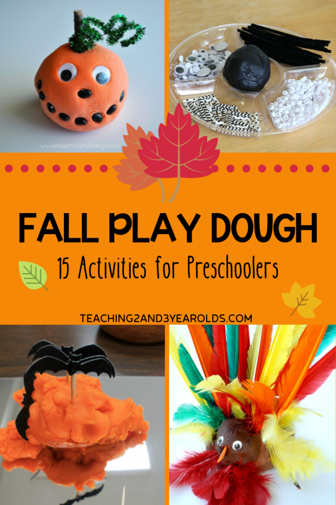 15+ Fun Fall Playdough Ideas for Preschoolers
