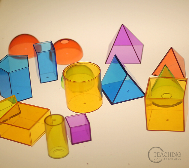 preschool light table activities- teaching 2 and 3 year olds