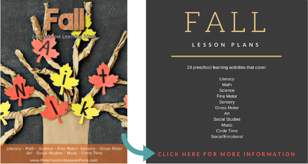 Preschool Fall Lesson Plans