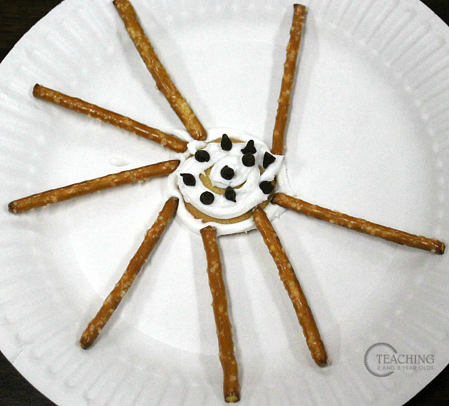 Preschool Math Activity Making Spider Snacks