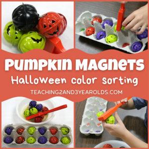 pumpkin color sorting activity