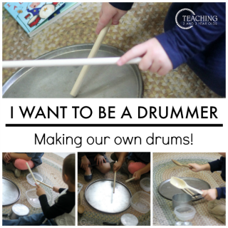 I Want to Be a Drummer preschool activity