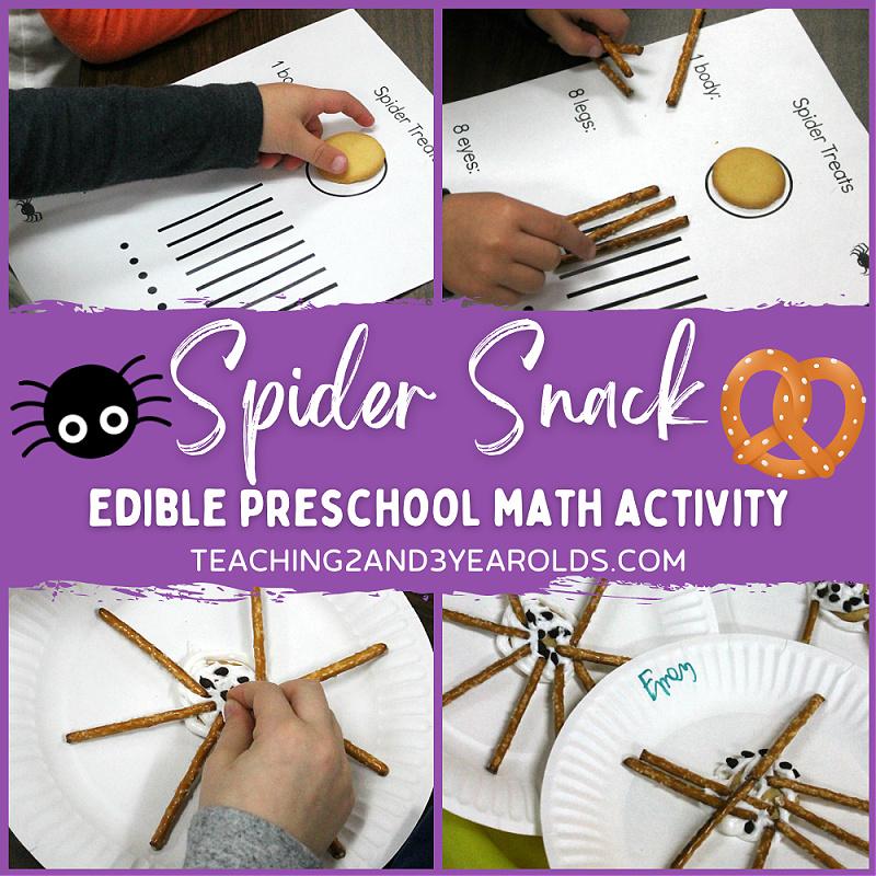 preschool spider snack