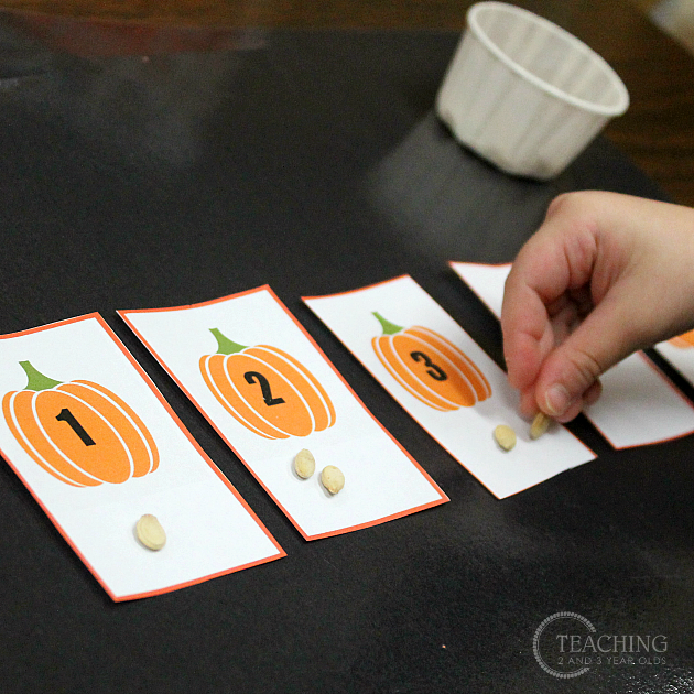 Simple Pumpkin Math for Preschoolers
