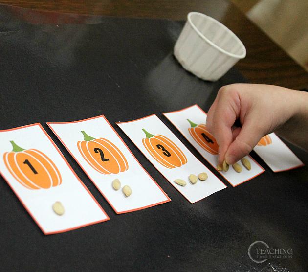 Simple Pumpkin Math for Preschoolers