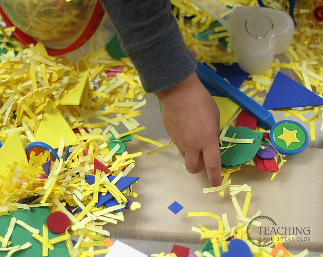 Shape Sensory Bin for Toddlers and Preschoolers