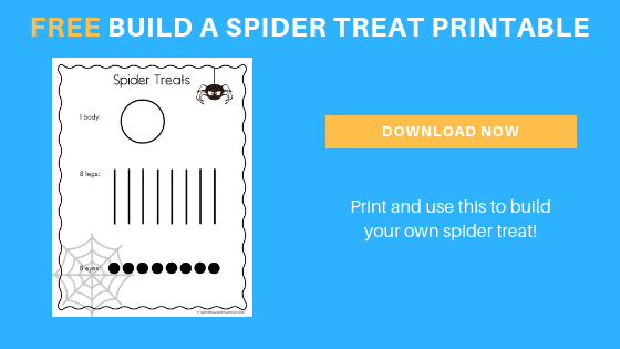 Preschool Spider Snack that also Strengthens Counting Skills
