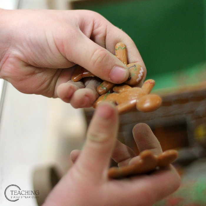 Christmas Gingerbread Sensory Play for Preschoolers
