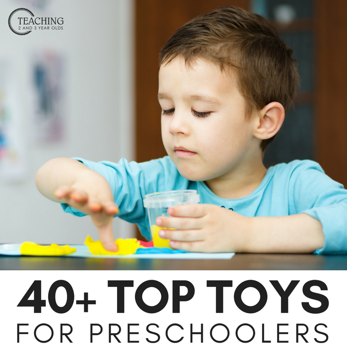 Looking for gift ideas? This amazing collection of over 40 favorite toys for preschoolers was put together after I polled parents. They shared mostly non-tech toys that are open ended, allowing children to use their imagination as they play.