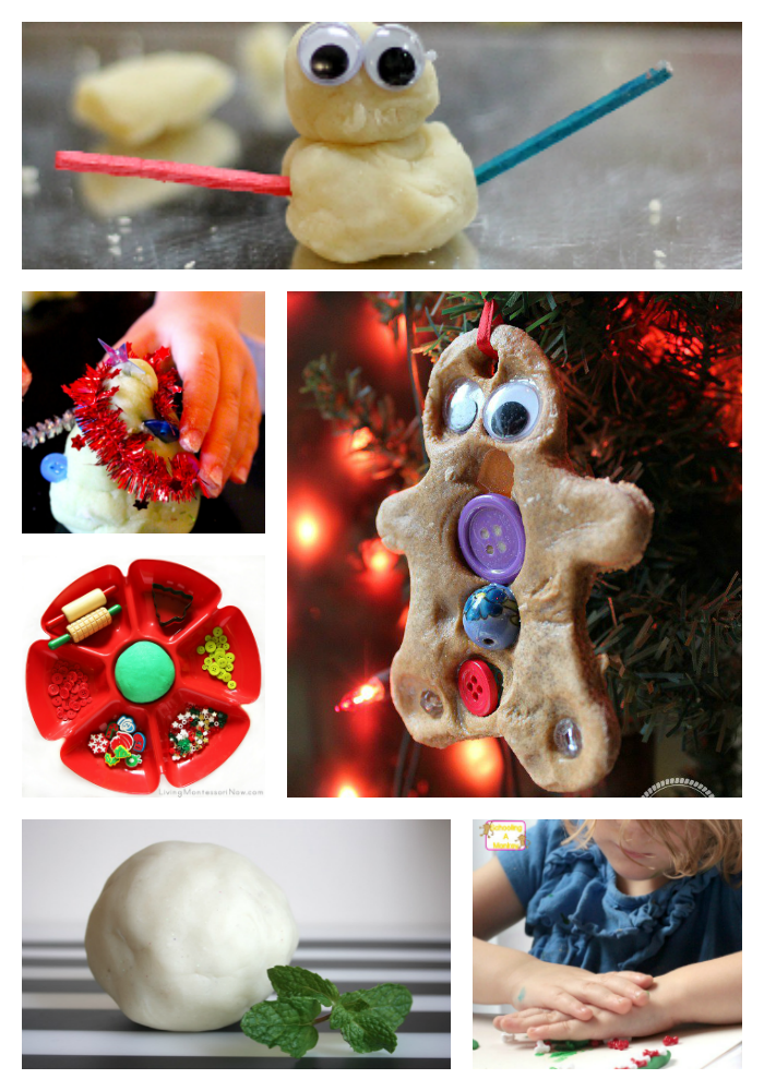 Christmas Playdough Activities