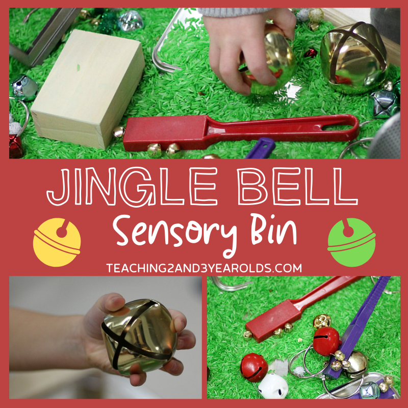 Jingle Bells for Preschoolers - In the Sensory Bin!