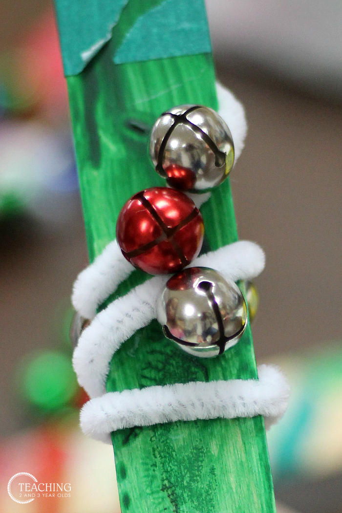 Easy Christmas Jingle Bell Sticks