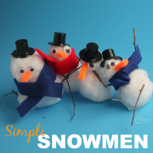 Fun Snowman Craft with Pom Poms