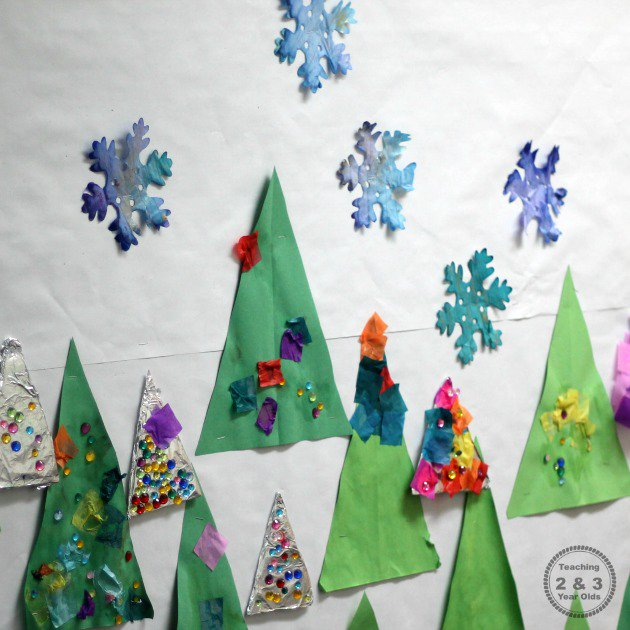 Easy Watercolor Snowflakes - Teaching 2 and 3 Year Olds