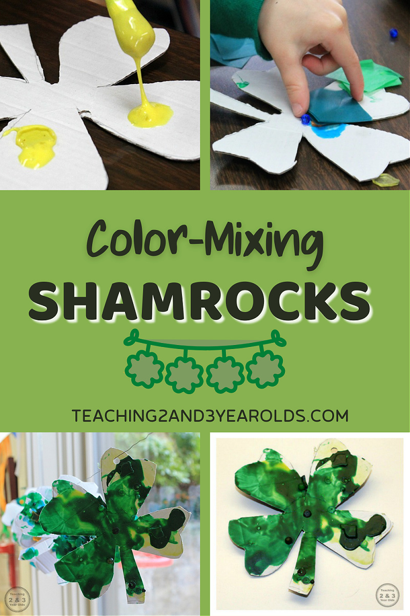 Color-Mixing St. Patrick's Day Toddler Craft