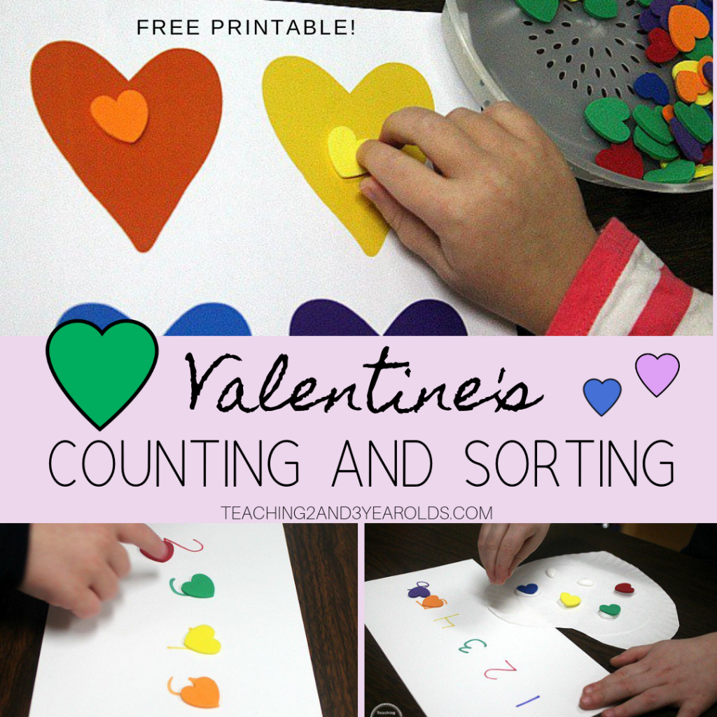 Valentine's Counting Activity with Free Printable